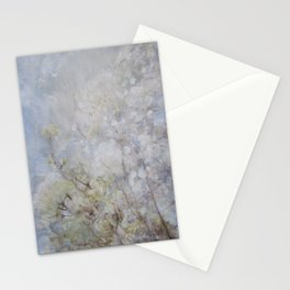 White Blossom Flowers Stationery Cards