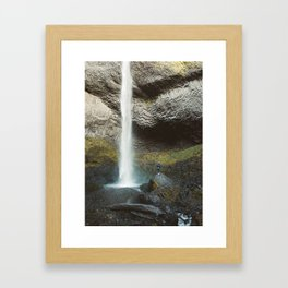 Giant Waterfall in the Columbia Gorge Framed Art Print