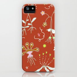 Red Flora of Planet Hinterland iPhone Case
