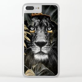King of the Jungle - lion Clear iPhone Case