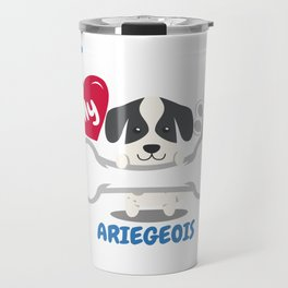 ARIEGEOIS Cute Dog Gift Idea Funny Dogs Travel Mug