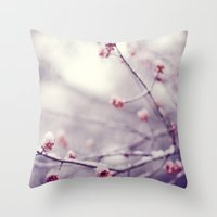 poem Throw Pillows featuring poem of the air by Mary Carroll