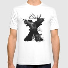 X ANIMALS SMALL White Mens Fitted Tee