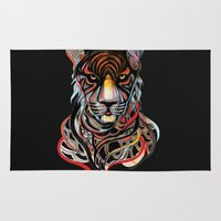 tiger Area & Throw Rugs featuring Tiger by Felicia Atanasiu