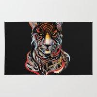 tiger Area & Throw Rugs featuring Tiger by Felicia Cirstea