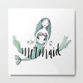 Art sleeping mermaid Metal Print