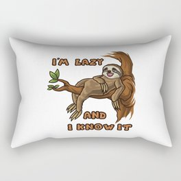 I'm Lazy And I Know It | Sloth Sleeping Animal Rectangular Pillow