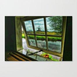 View through a window Canvas Print