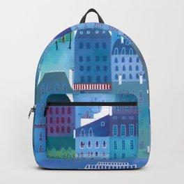 Paris Blues Painting Backpack