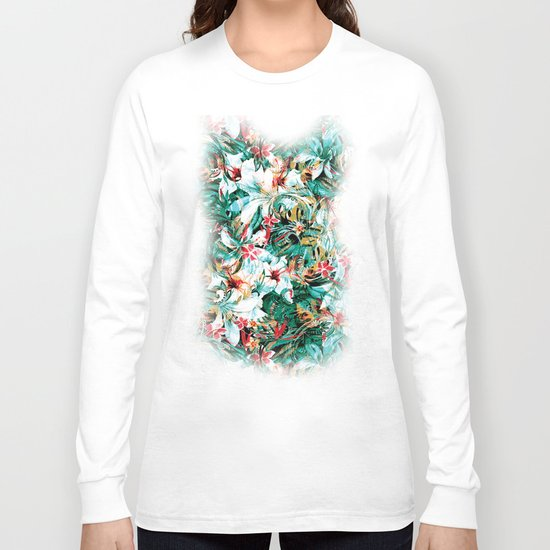 Seamless Floral And Paisley Pattern Long Sleeve T-shirt