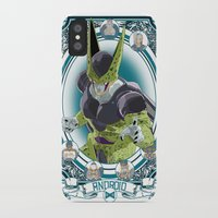 dragonball iPhone & iPod Cases featuring DragonBall Z - Android House by Art of Mike