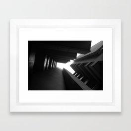 Cluster Block, Bethnal green - Denys Lasdun Framed Art Print