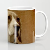 beagle Mugs featuring Beagle by Durro