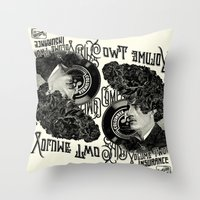 rockabilly Throw Pillows featuring Rockabilly by DIVIDUS