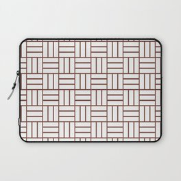 Basketweave (Brown & White Pattern) Laptop Sleeve
