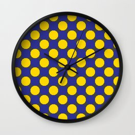 Blue and Yellow Dodecagons Wall Clock