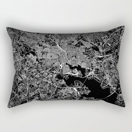 Baltimore Black Map Rectangular Pillow