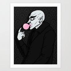 Popping Bubblegum Bubble  Art Print