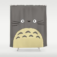 ghibli Shower Curtains featuring My neighbor troll - Studio Ghibli by Drivis