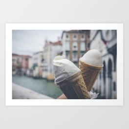 Love and ice cream Art Print