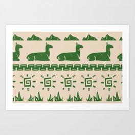 Maccu Picchu Art Print