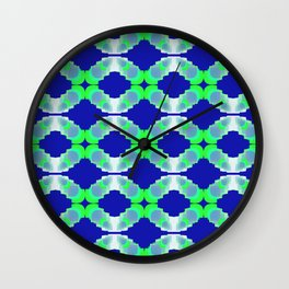 rings of chains on blue background Wall Clock