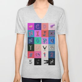 36 Days of Type Unisex V-Neck