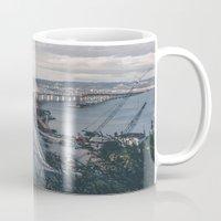 oakland Mugs featuring Bay Bridge - Oakland, CA by roelvista