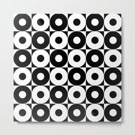 black & whit pattern Metal Print