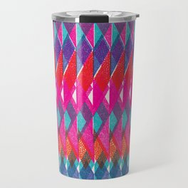 Shard Hand-Print Geometric - Bright Travel Mug
