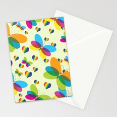 Butterflies, Hearts, and Rainbows Pattern Stationery Cards