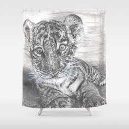 Fluke - Baby Tiger Cub Shower Curtain