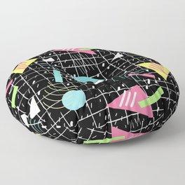 Memphis Style Vibes (Dark) Floor Pillow