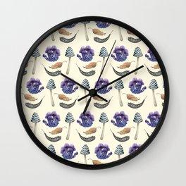 Sweet Botanicals 3 Wall Clock