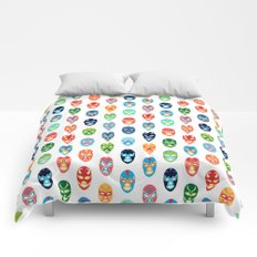Lucha libre mask pattern Comforters