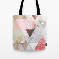 rose Tote Bags featuring Graphic 3 by Mareike Böhmer
