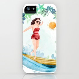 Riding with my surfboard.... Surfboard, surfboard iPhone Case