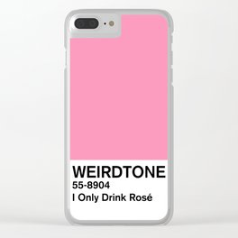 I Only Drink Rosé Clear iPhone Case