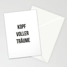 KOPF VOLLER TRÄUME Stationery Cards