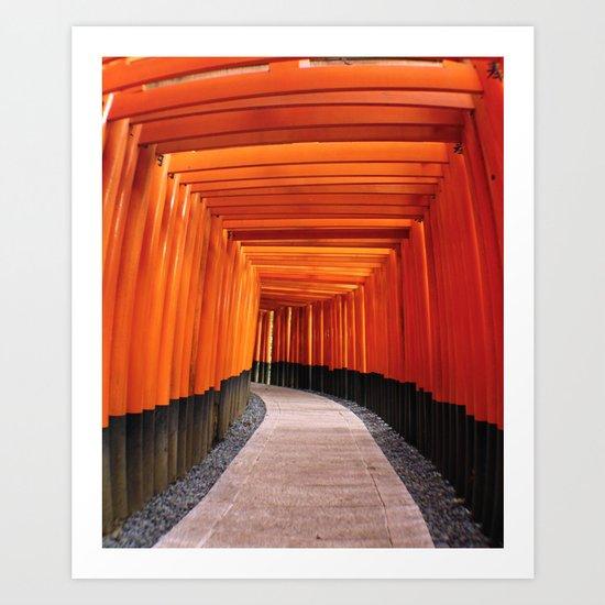 Thousand Torii Gates Art Print