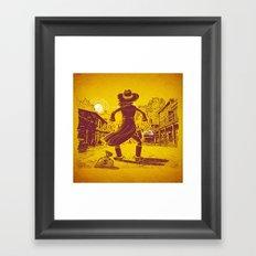 The Last Showdown - The bad guy Framed Art Print