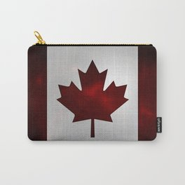 Metallic Canadian Flag Carry-All Pouch