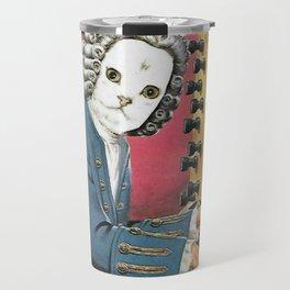 I Don't Bach I Meow Handcut collage Travel Mug