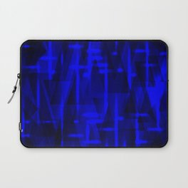 Bright dark blue highlights on marine triangles and metal stripes. Laptop Sleeve
