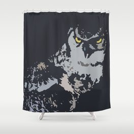 Bold Eagle Owl, Bird Of Prey Print Shower Curtain