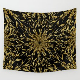 Black Gold Glam Nature Wall Tapestry