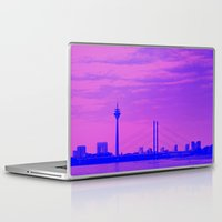cityscape Laptop & iPad Skins featuring Cityscape by DuniStudioDesign