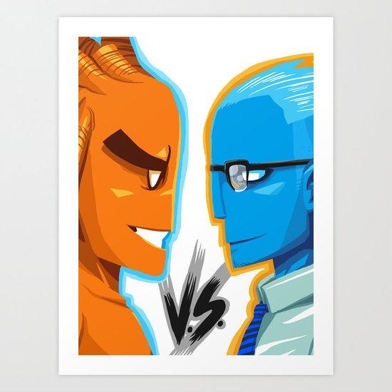 BLUE VS ORANGE Art Print