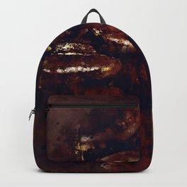 big coffee beans splatter watercolor Backpack