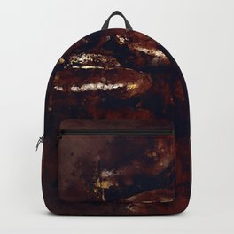 big coffee beans splatter watercolor Backpack